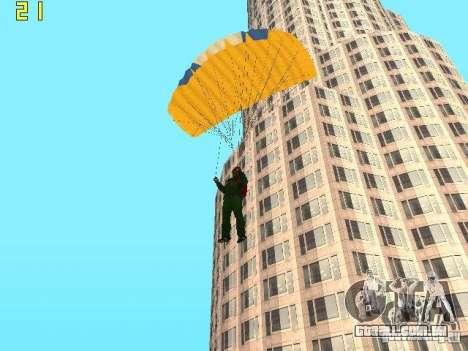 Saltar de paraquedas de TBOGT v2 para GTA San Andreas