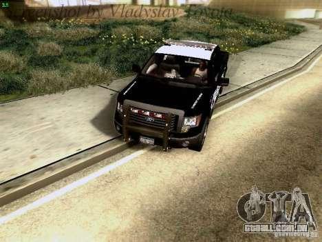 Ford F-150 Interceptor para GTA San Andreas vista interior