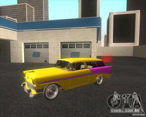 Chevrolet Bel Air Nomad 1956 stock para GTA San Andreas