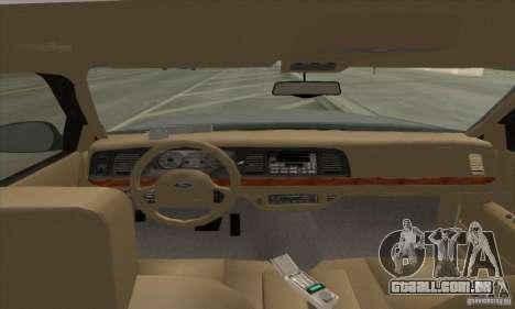 Ford Crown Victoria 2003 para GTA San Andreas esquerda vista