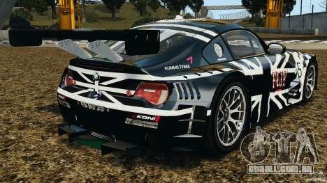 BMW Z4 M Coupe Motorsport para GTA 4 traseira esquerda vista