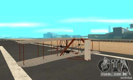 The Wright Flyer para GTA San Andreas traseira esquerda vista