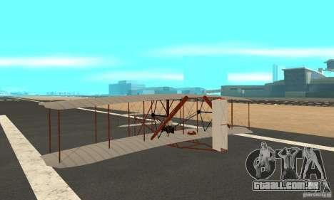 The Wright Flyer para GTA San Andreas traseira esquerda vista