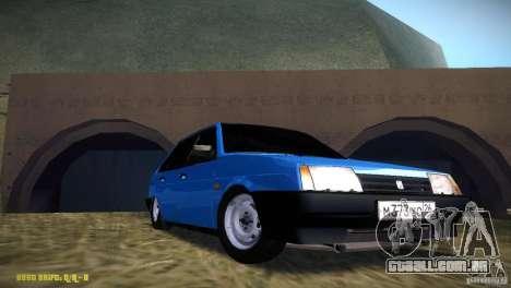 2109 Vaz para GTA San Andreas vista traseira
