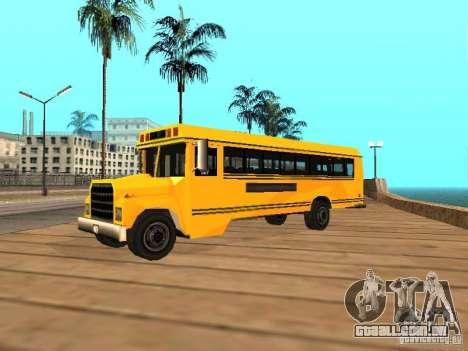School bus para GTA San Andreas esquerda vista