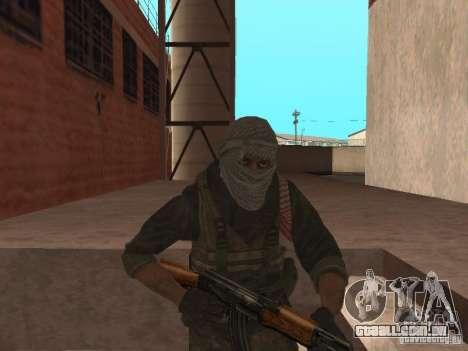 Dušman 2 do COD4MW para GTA San Andreas terceira tela