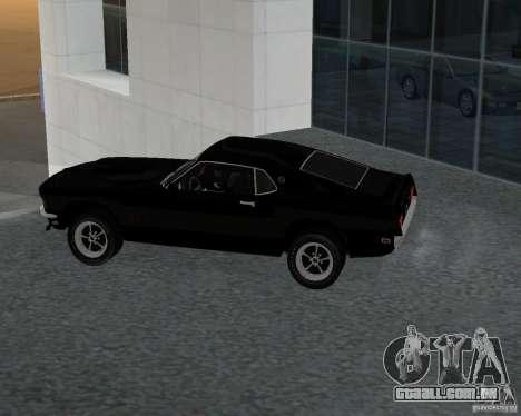 Ford Mustang Boss 1969 para GTA San Andreas esquerda vista