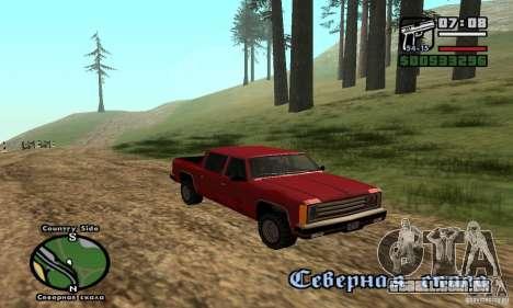 Rancher 4 Doors Pick-Up para GTA San Andreas vista traseira