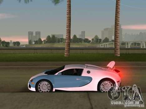 Bugatti Veyron EB 16.4 para GTA Vice City vista traseira
