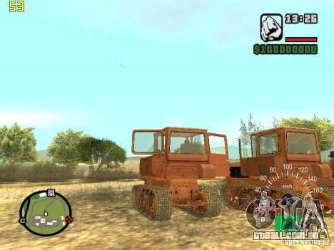 Tractor DT-75 carteiro para GTA San Andreas vista traseira