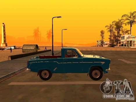 Pickup Moskvitch 407 para GTA San Andreas esquerda vista