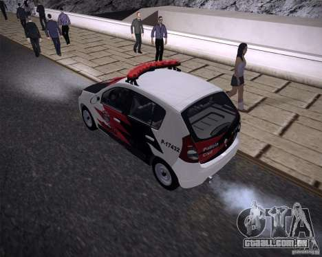 Renault Sandero Policia para GTA San Andreas esquerda vista