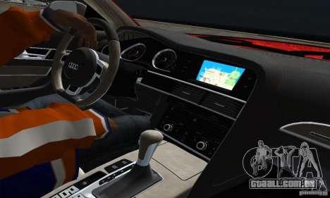 Audi A6 Avant Stanced para GTA San Andreas vista interior
