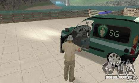 Renault Kangoo Straz Graniczna para GTA San Andreas vista traseira