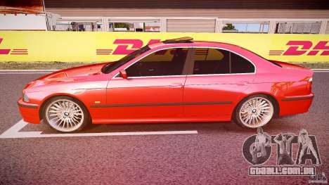 BMW 530I E39 stock chrome wheels para GTA 4 esquerda vista