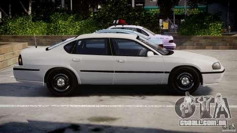 Chevrolet Impala Unmarked Police 2003 v1.0 [ELS] para GTA 4 esquerda vista