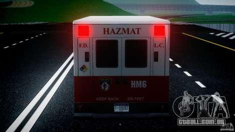 LCFD Hazmat Truck v1.3 para GTA 4 motor