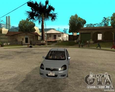 Toyota Vitz para GTA San Andreas vista traseira