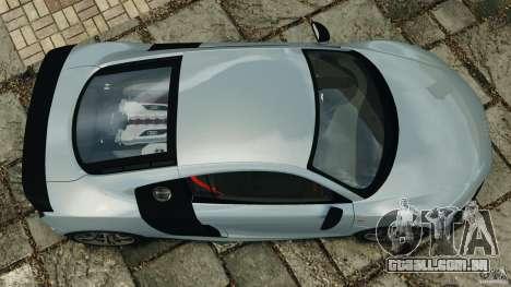 Audi R8 GT 2012 para GTA 4 vista direita