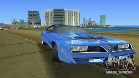 Pontiac Trans Am 77 para GTA Vice City vista direita