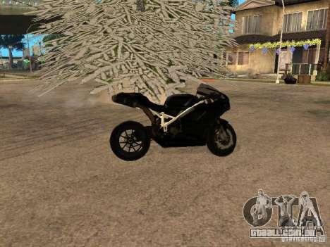 Ducati RS09 para GTA San Andreas traseira esquerda vista