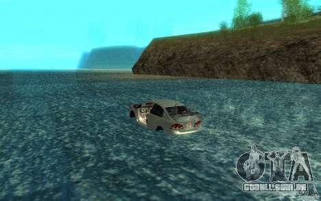 Honda Civic Mugen RR Boat para GTA San Andreas traseira esquerda vista