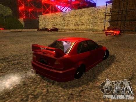 Mitsubishi Lancer Evolution VI GSR 1999 para GTA San Andreas vista direita