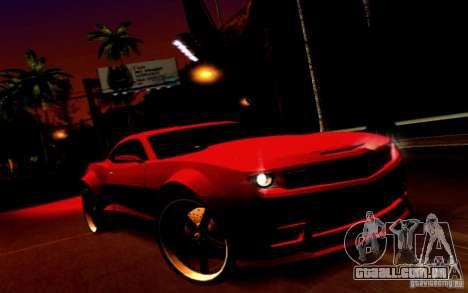 Chevrolet Camaro Tuning para GTA San Andreas vista traseira