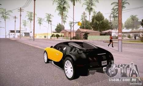 Bugatti Veyron 16.4 EB 2006 para GTA San Andreas traseira esquerda vista