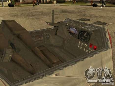 Bagagem de Star Wars para GTA San Andreas vista interior