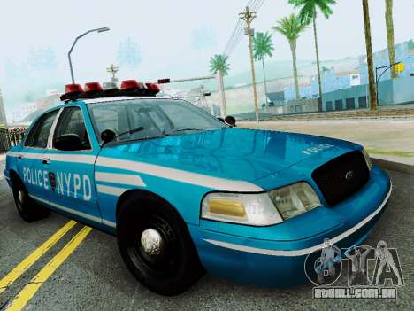 Ford Crown Victoria 2003 NYPD Blue para GTA San Andreas vista traseira