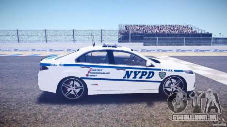 Honda Accord Type R NYPD (City Patro 1950l) ELS para GTA 4 vista interior
