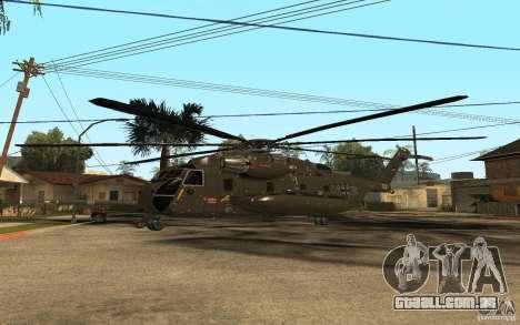 CH 53 para GTA San Andreas vista traseira