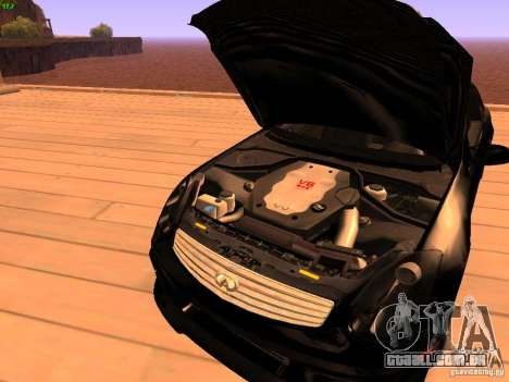 Infiniti G35 V.I.P para GTA San Andreas vista superior