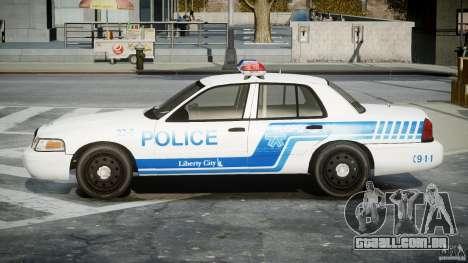 Ford Crown Victoria CVPI-V4.4M [ELS] para GTA 4 esquerda vista