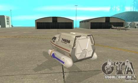 Shuttle-NCC-74656 para GTA San Andreas traseira esquerda vista