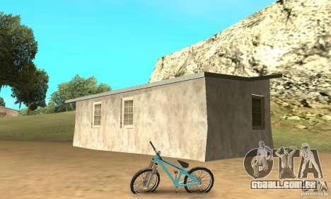 Dirt Jump Bike para GTA San Andreas traseira esquerda vista