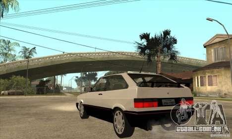 VW Gol GTS 1989 para GTA San Andreas traseira esquerda vista