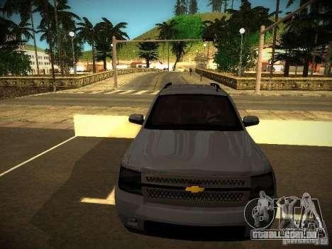 Chevrolet Tahoe HD Rimz para GTA San Andreas esquerda vista