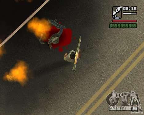 Real Ragdoll Mod Update 2011.09.15 para GTA San Andreas por diante tela