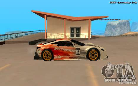 Lexus LFA Speedhunters Edition para GTA San Andreas vista traseira