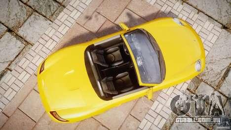 Porsche Boxster S para GTA 4 vista direita