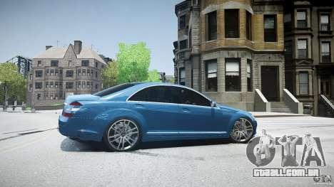 Mercedes Benz w221 s500 v1.0 sl 65 amg wheels para GTA 4 esquerda vista