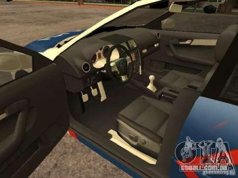 Mazda 6 Police Indonesia para GTA San Andreas traseira esquerda vista