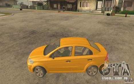 Chevrolet Aveo 2007 final para GTA San Andreas esquerda vista