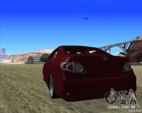 Toyota Corolla 2008 Tuning para GTA San Andreas vista direita