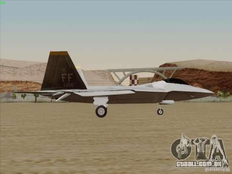 FA22 Raptor para GTA San Andreas esquerda vista