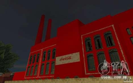 A fábrica da Coca-Cola para GTA San Andreas segunda tela