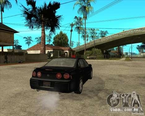 2003 Chevrolet Impala SS para GTA San Andreas traseira esquerda vista