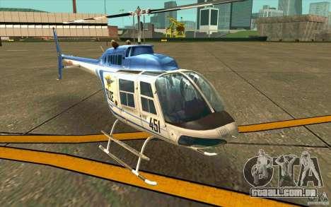 Bell 206 B Police texture1 para GTA San Andreas esquerda vista
